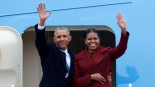 奧巴馬和夫人1月20日告別白宮
