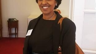 Hanna Simon, Eritrea's ambassador to France, attends a cocktail lunch at the National Assembly to mark International Women's Day, 7 March 2019