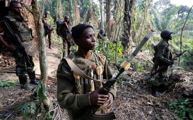 Wanajeshi wa DRC wakishika doria Mashariki mwa DRC