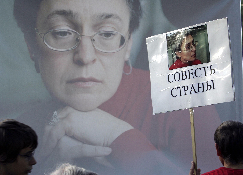 La periodista rusa Anna Politkovskaya, feroz crítica del Kremlin, fue asesinada el 7 de octubre de 2006 en Moscú