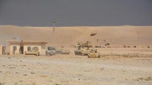 ارتش عراق مستقر در جنوب شهر موصل. ۲۲ مرداد/ ١٢ اوت ٢٠۱۶