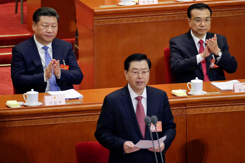 2017年3月4日中国全国政协主席张德江在人大会堂政协年会开幕式上讲话。
