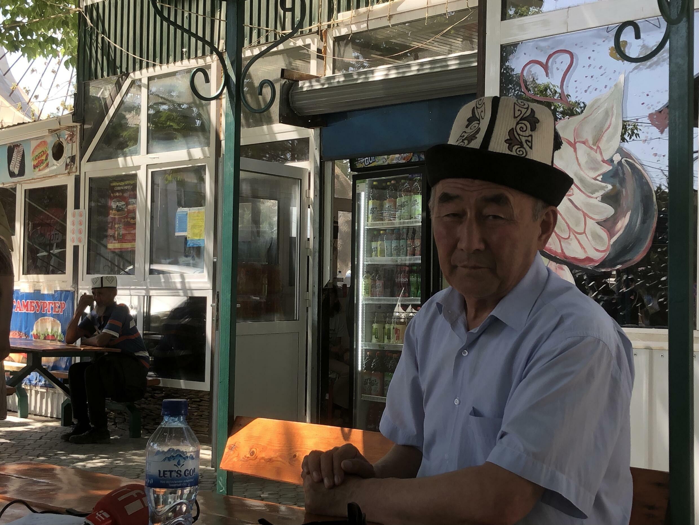 Кыргызский правозащитник Хаит Айкынов. Баткен, Кыргызстан, май 2021 г.