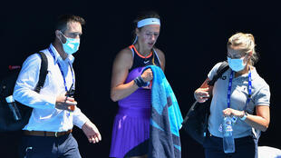 Victoria Azarenka appeared to have breathing difficulties during her defeat at the Australian Open