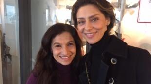 As atrizes Maria Fernanda Cândido e Tuna Dwek de passagem pelos estúdios da RFI em Paris
