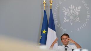Emmanuel Macron anunció este miércoles las grandes líneas de su plan de rescate de la cultura.
