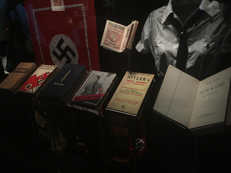 Một gian trưng bày chủ nghĩa Phát xít Đức tại Nhà Lịch sử châu Âu.