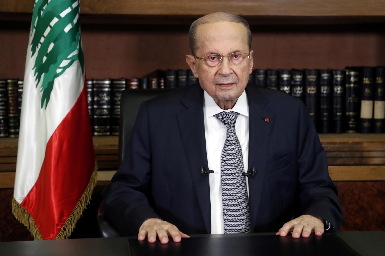Image RFI Archive / Liban tarde à lancer les consultations pour choisir un successeur à Saad Hariri. Ici, le président libanais Michel Aoun, au palais présidentiel à Baabda, le 17 mars 2021.