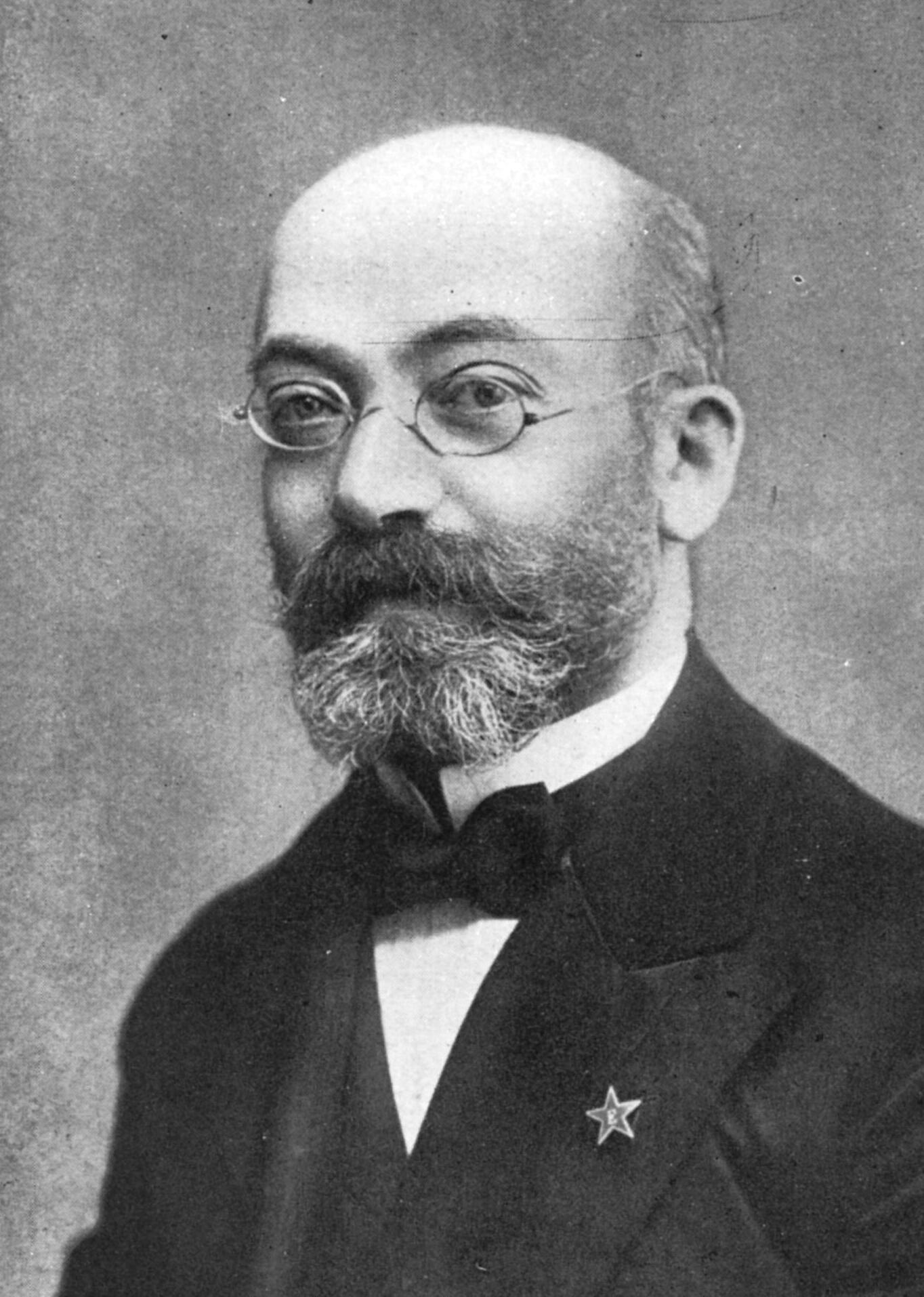 Ludwik Zamenhof (1859-1917), criador do esperanto.