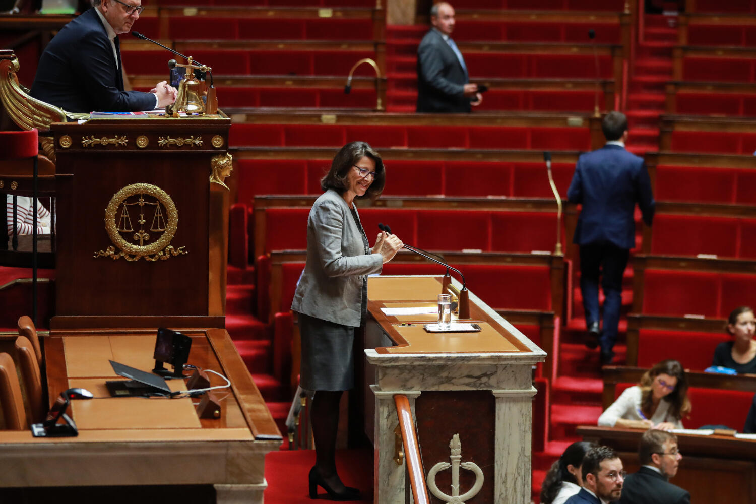 French Health and Solidarity Minister Agnes Buzyn addresses French Parliament lower house.