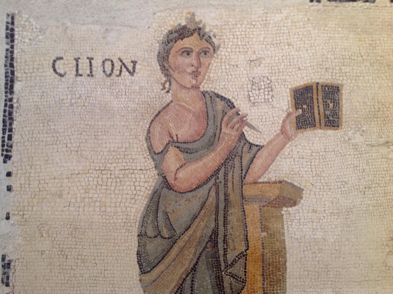 Клио. Мозаика из Палаццо Массимо в Риме. 2-й век н.э