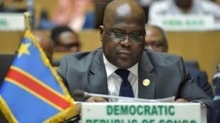 Félix Tshisekedi, presidente da RDC, na 32ª Cimeira de Chefes de Estado e de Governo da União Africana