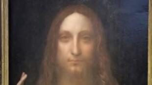 Captura de pantalla del reportaje sobre la subasta del cuadro de Da Vinci.