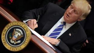 Donald Trump, el 27 de marzo del 2017.