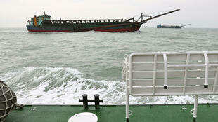 _TAIWAN-CHINA-SECURITY - Sand-dredging ships with Chinese flags