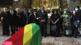 Funérailles de l'ancien président congolais, Pascal Lissouba. Une messe a été donnée en son honneur, ce lundi 31 août 2020, dans la basilique cathédrale Saint Jean-Baptiste de Perpignan, en France.