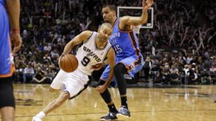 El guardián del Spurs de San Antonio, Tony Parker, el 21 de Mayo de 2014.