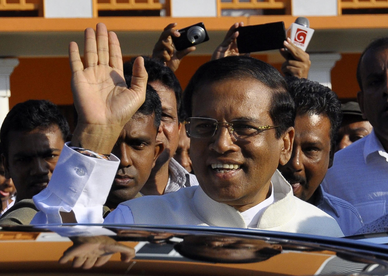 Le candidat victorieux de la présidentielle sri lankaise Mithripala Sirisena, le 8 janvier 2015.