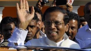 Ông Mithripala Sirisena, trong ngày đắc cử Tổng thống Sri Lanka 8/01/2015.
