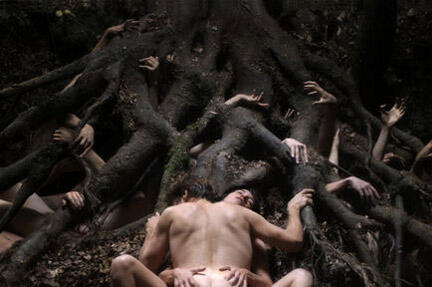 Willem Dafoe and Charlotte Gainsbourg in Antichrist