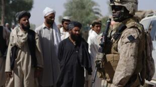 Un soldat américain dans la province méridionale de l'Helmand en octobre 2009.