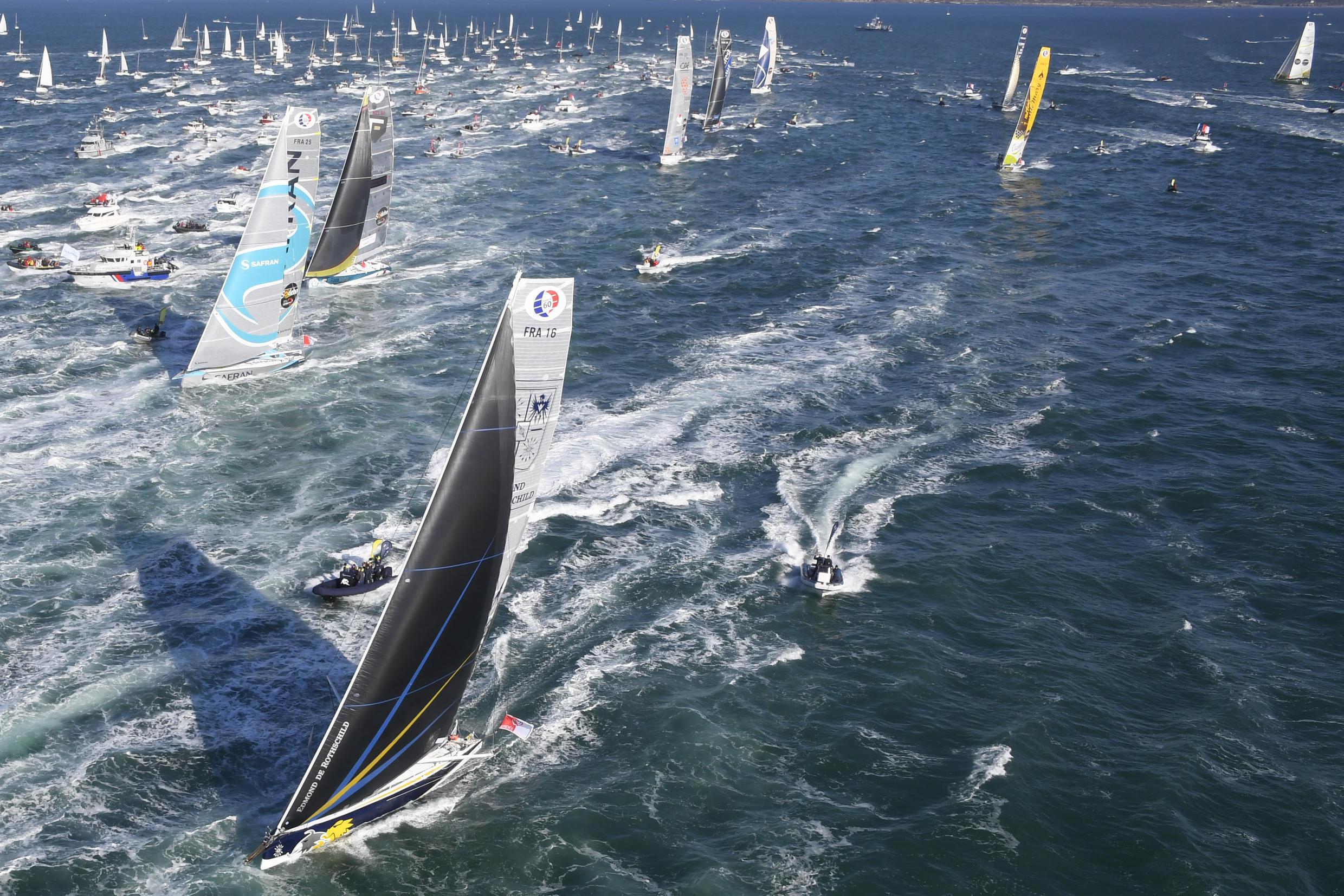 The Vendee Globe started as planned on November 8 but there were no supporters quayside at Sables-d'Olonne to see off the 33 yachts