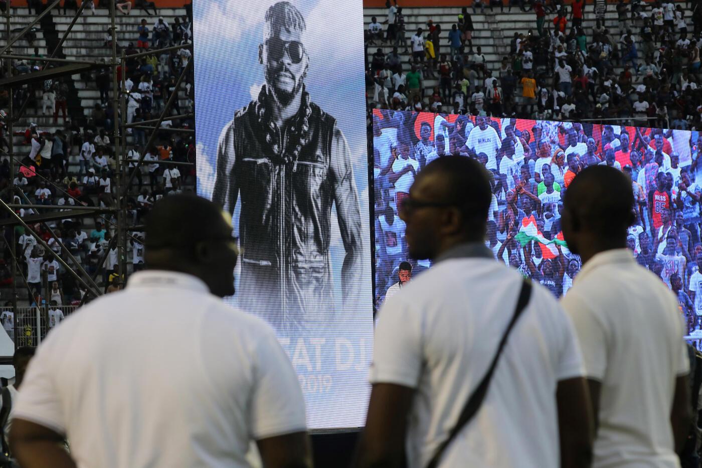 Tribute event for the late DJ Arafat at the Félix Houphouët-Boigny Stadium, Abidjian, Côte d'Ivoire, 30 August 2019.