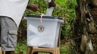 IMAGE Opération de vote à Kampala, Ouganda, pour la présidentielle du 14 janvier 2021.