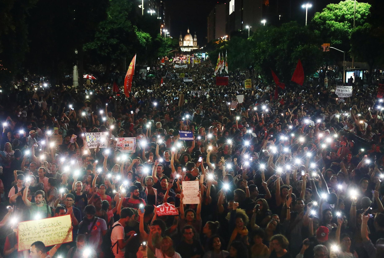 Manifestation contre les coupes dans l'éducation. Rio de Janeiro, le 15 mai 2019.