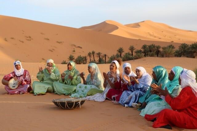 Lemma, all female group from Béchar in south west Algeria, founded by Souad Asla (centre)