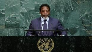 Joseph Kabila Kabange, President of the Democratic Republic of the Congo addresses the 72nd United Nations General Assembly at U.N. headquarters in New York, U.S., September 23, 2017.