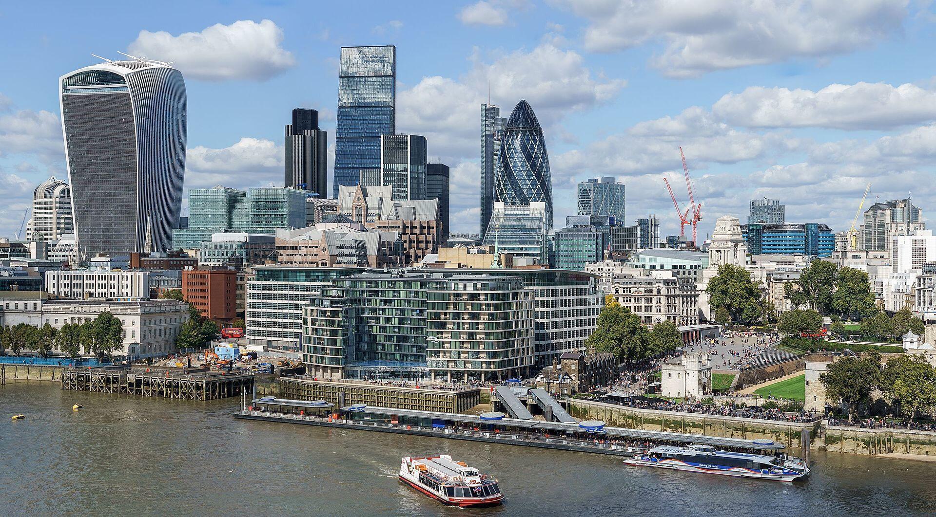 Skyline da City, bairro empresarial e financeiro de Londres