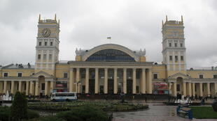 La gare de Kharkiv, dans l'est de l'Ukraine.