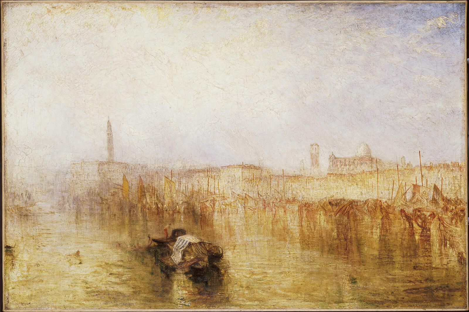Набережная в Венеции, Дворец дожей. Уильям Тернер. Холст, масло. Выставлялась в 1844.