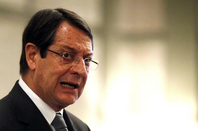 O presidente cipriota Nicos Anastasiades.