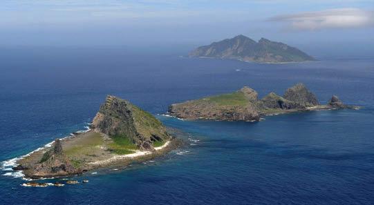 圖為釣魚島遠眺