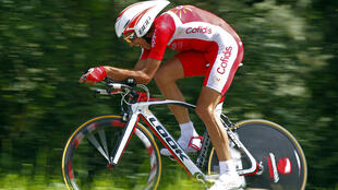 Cofidis rider Remy Di Gregorio of France on 9 July 2012