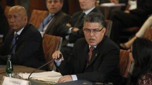 O ministro do exterior da Venezuela, Elias Jaua, durante reunião extraordinária da Unasul em 12 março de 2014.