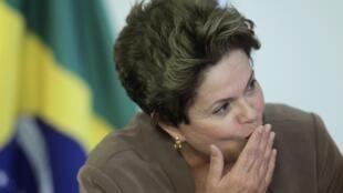 Presidente Dilma Rousseff em Brasília, em 29/08/2012.