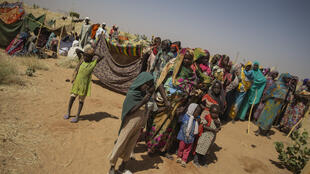 Des habitants du village de Fallouja qui a été attaqué le 19 janvier. Ces gens ont fui et se sont réfugiés dans le camp de Chedad où vivent déjà des déplacés d'attaques précédentes.