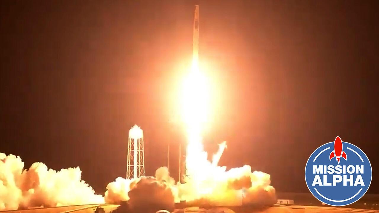 La fusée SpaceX avec à son bord quatre astronautes dont Thomas Pesquet a décollé de Cap Canaveral pour rejoindre la station spatiale internationale, le vendredi 23 avril 2021.