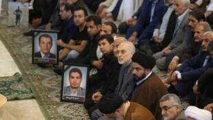 مراسم تشییع جنازۀ قربانیان حملات تروریستی تهران.