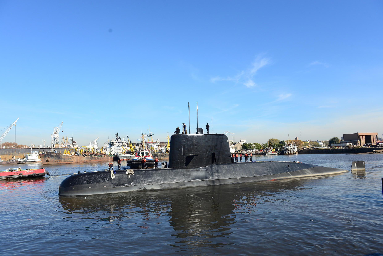 Tàu ngầm San Juan của Achentina tại cảng Buenos Aires, năm 2014.