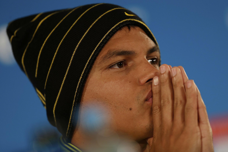 Thiago Silva, durante entrevista coletiva no Mané Garrincha.