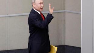 Президент Путин в Госудме 10 марта 2020.