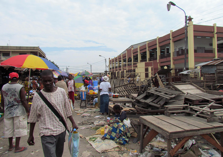 Le marché de Brazzaville.