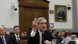 O diretor do FBI, Robert Mueller, durante a audiência na Câmara de Representantes americana, em Washington, nesta quinta-feira, dia 13 de junho.