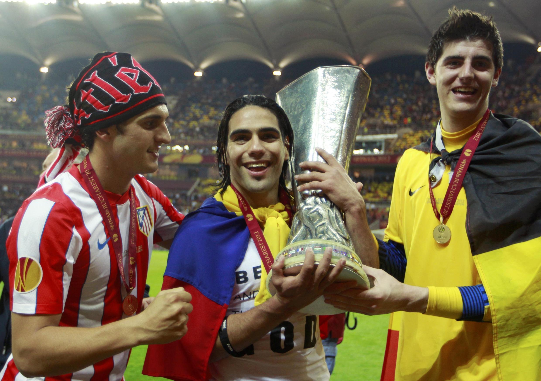 Falcao, auteur d'un doublé et artisan de la victoire de l'Atletico Madrid en finale de la Ligue Europa.