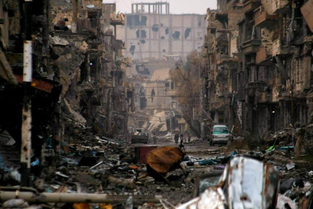 mji wa Deir Ezzor en Syrie, Januari 4, 2016.