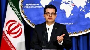 Abbas Mousavi, phát ngôn viên bộ Ngoại Giao Iran trong cuộc họp báo ở Teheran, ngày 28/05/2019